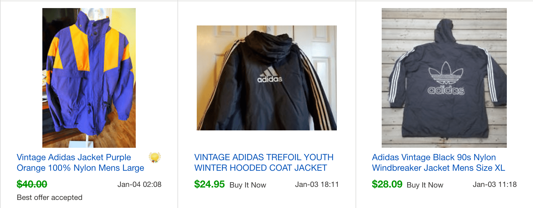 Rare 90's Vintage ADIDAS Windbreaker Jacket by